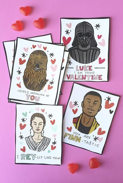 i heart star wars printable valentines  caravan shoppe
