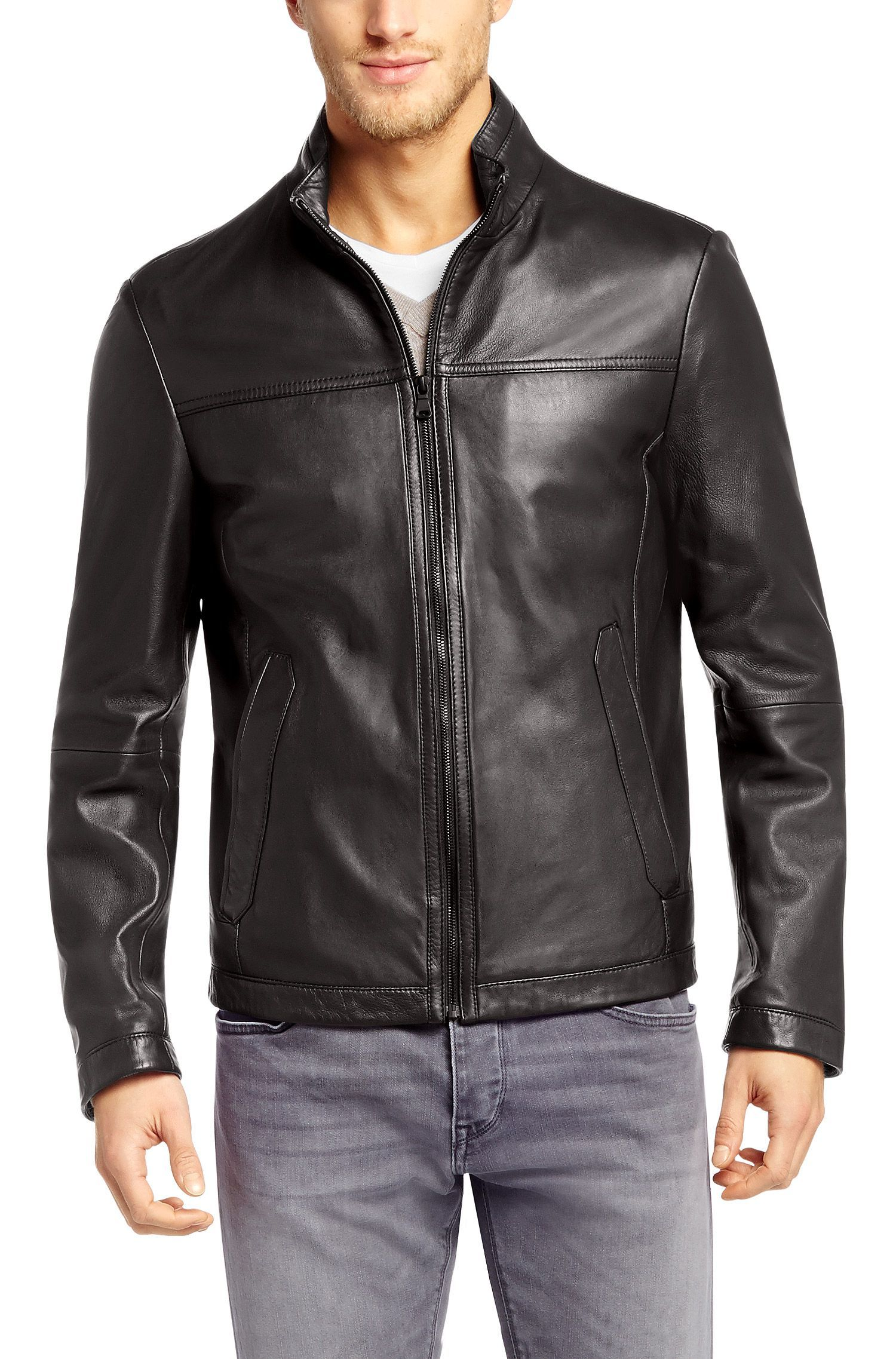Hugo Boss Boss leather jacket, Leather jacket, Jackets