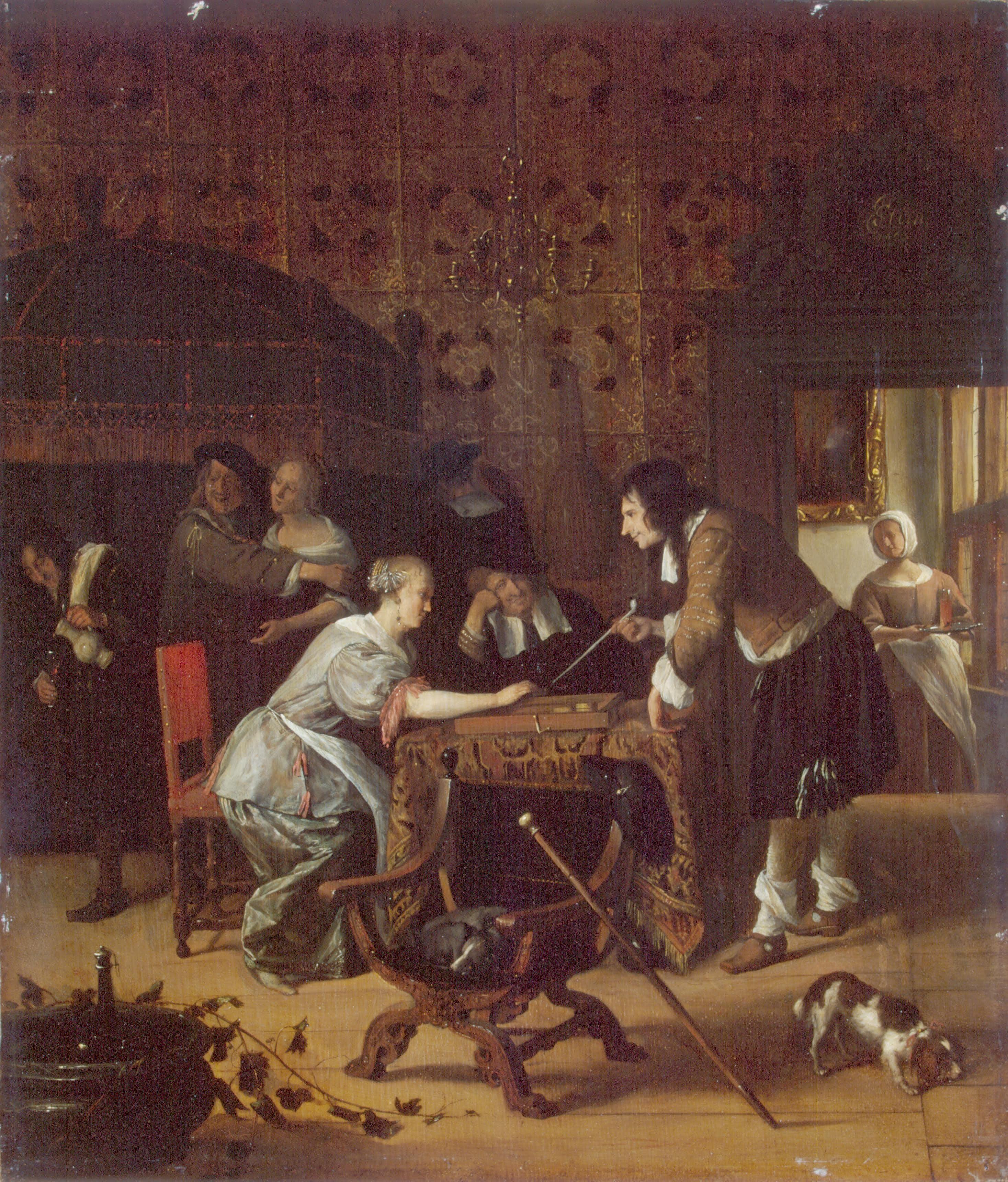 Jan Steen triktrak spelers. 1662. Hermitage Museum St