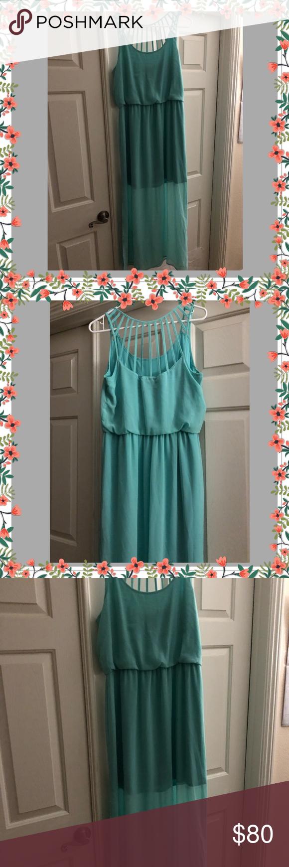 Reduced Beautiful Light Teal Green Dress Teal Green