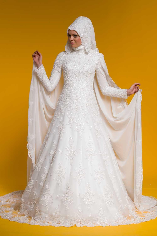 Pelerinli A Kesim Dantelli Tesettur Gelinlik Modeli Dakkasinda Com Gelinlik The Dress Elbise