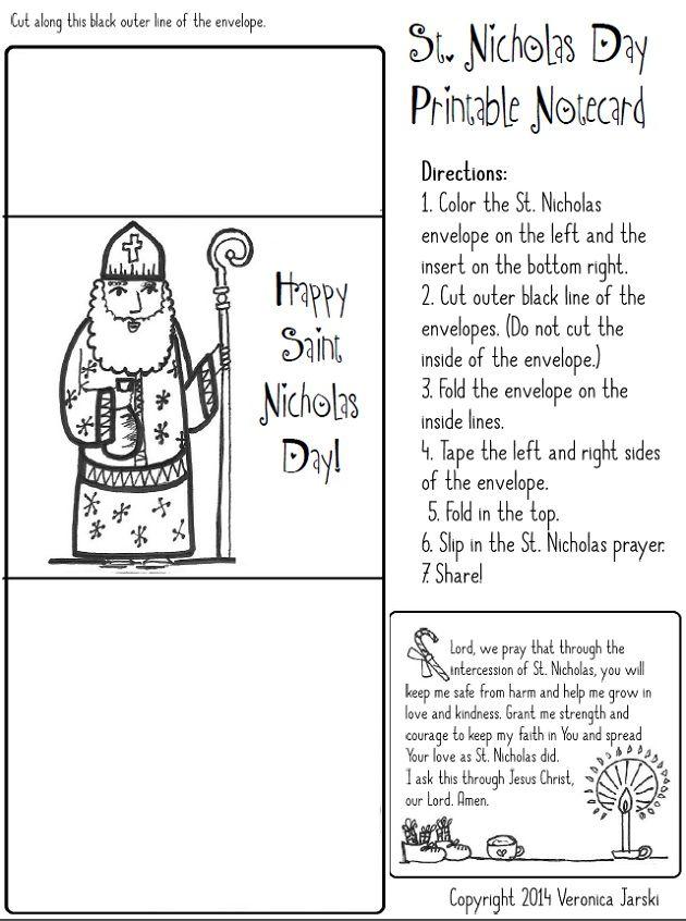 Saint Nicholas Free Coloring Page And Printable Saint Nicholas