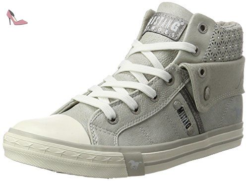 1099 302 1, Sneakers Basses femme, Blanc (1 Weiss), 42 EUMustang