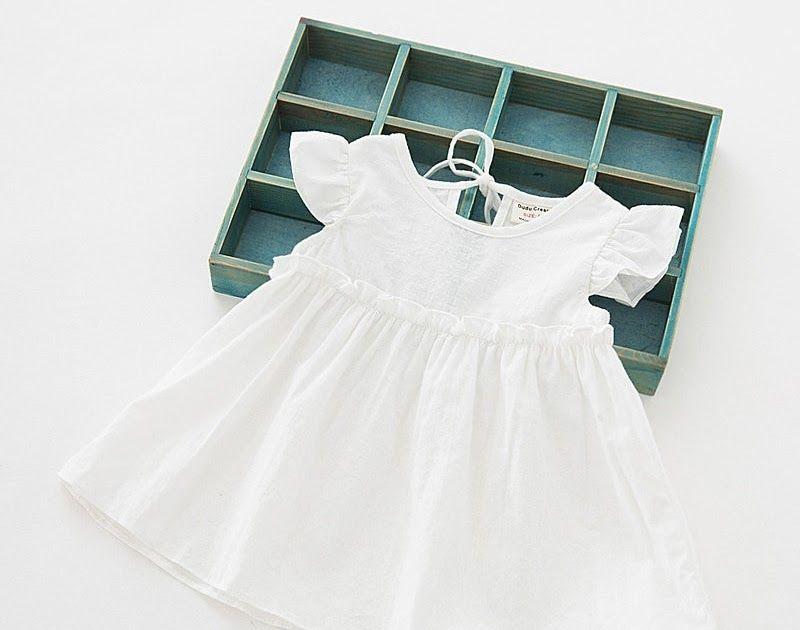 9e21fa56e58c Cheapest 5Colors girls dress soft cotton baby girls summer clothes ...
