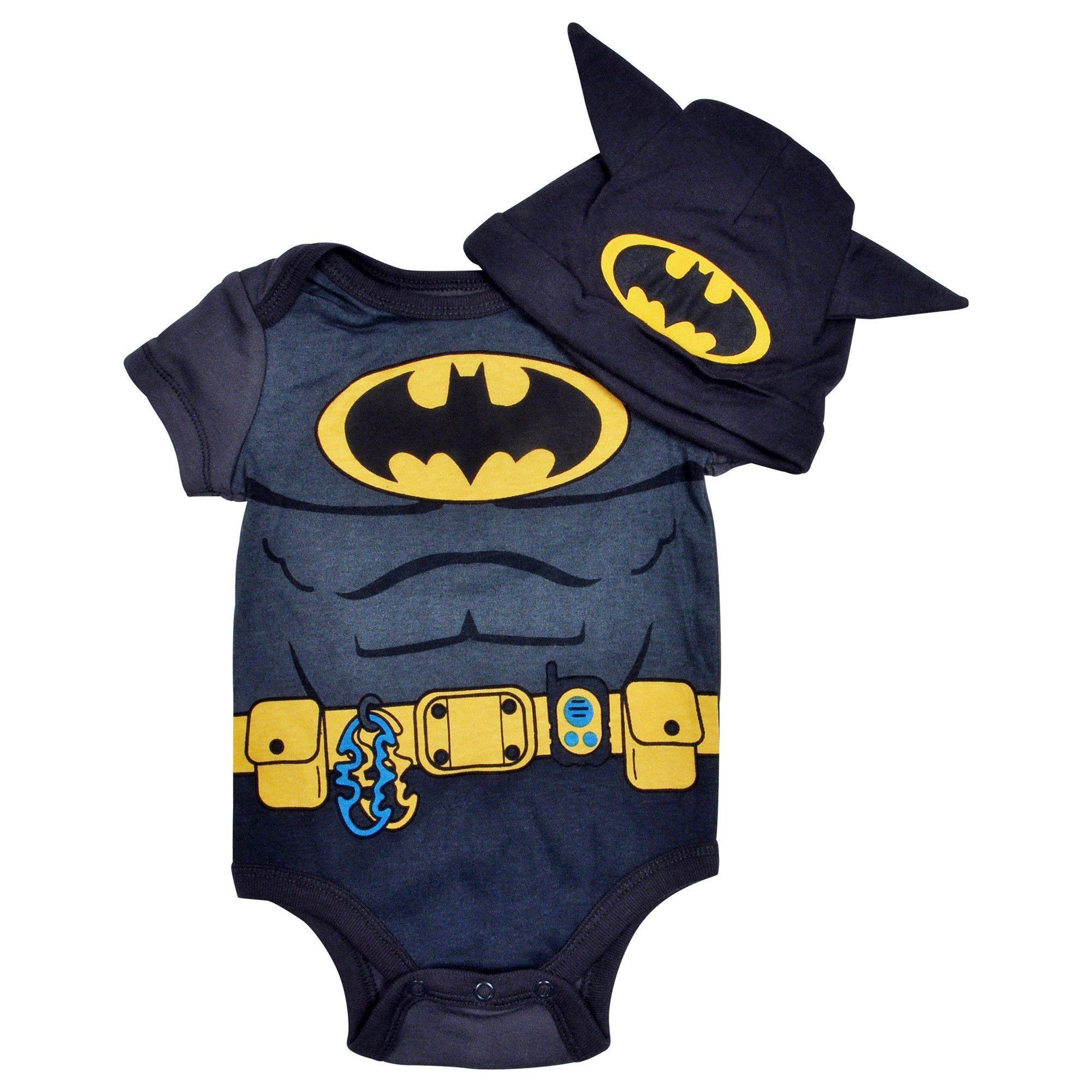 94e05013a2fb Newborn Baby Boys Batman One-Piece Bodysuit   Cap