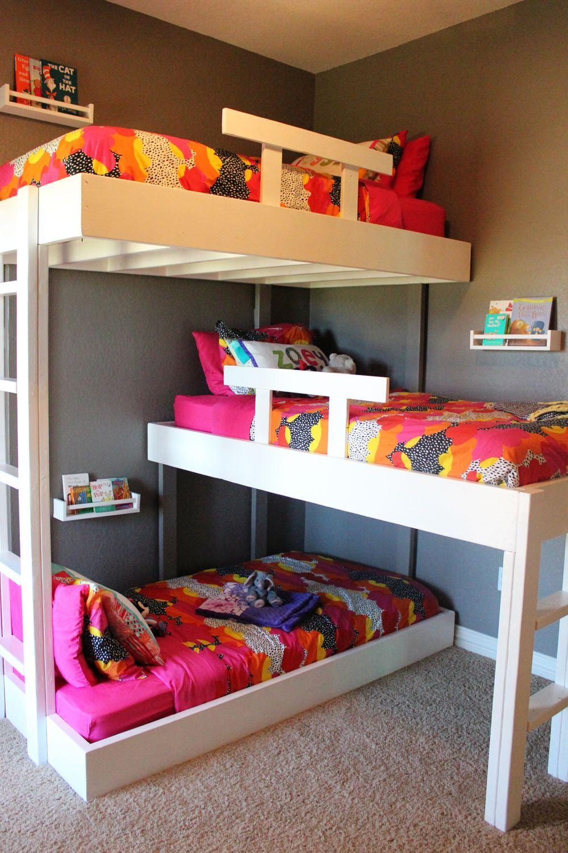 Home Kids Room Bunk Bed Bedroom Nightstand House Furniture
