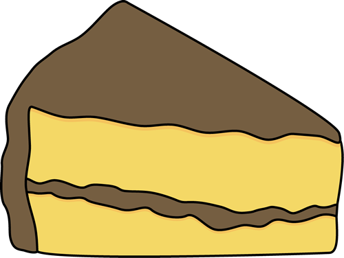 slice of yellow cake with chocolate frosting clip art food rh pinterest com slice of cake clipart image slice of cake clipart image