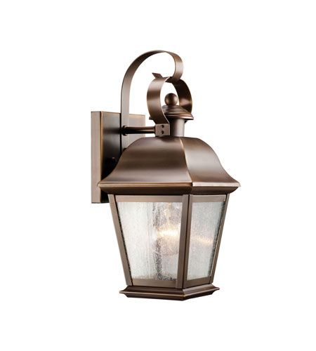 Kichler 9707oz mount vernon 1 light 13 inch olde bronze outdoor wall lantern in standard