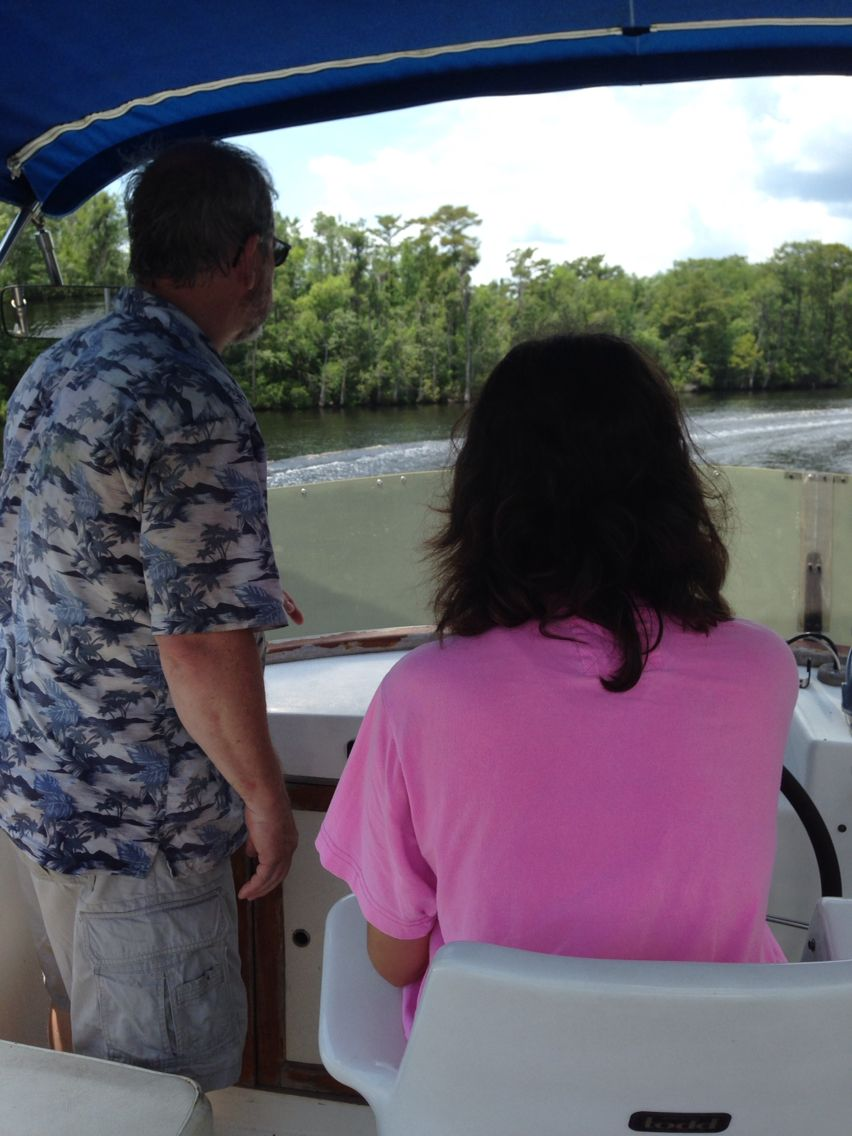 Host Family Fred Cook and day on the boat