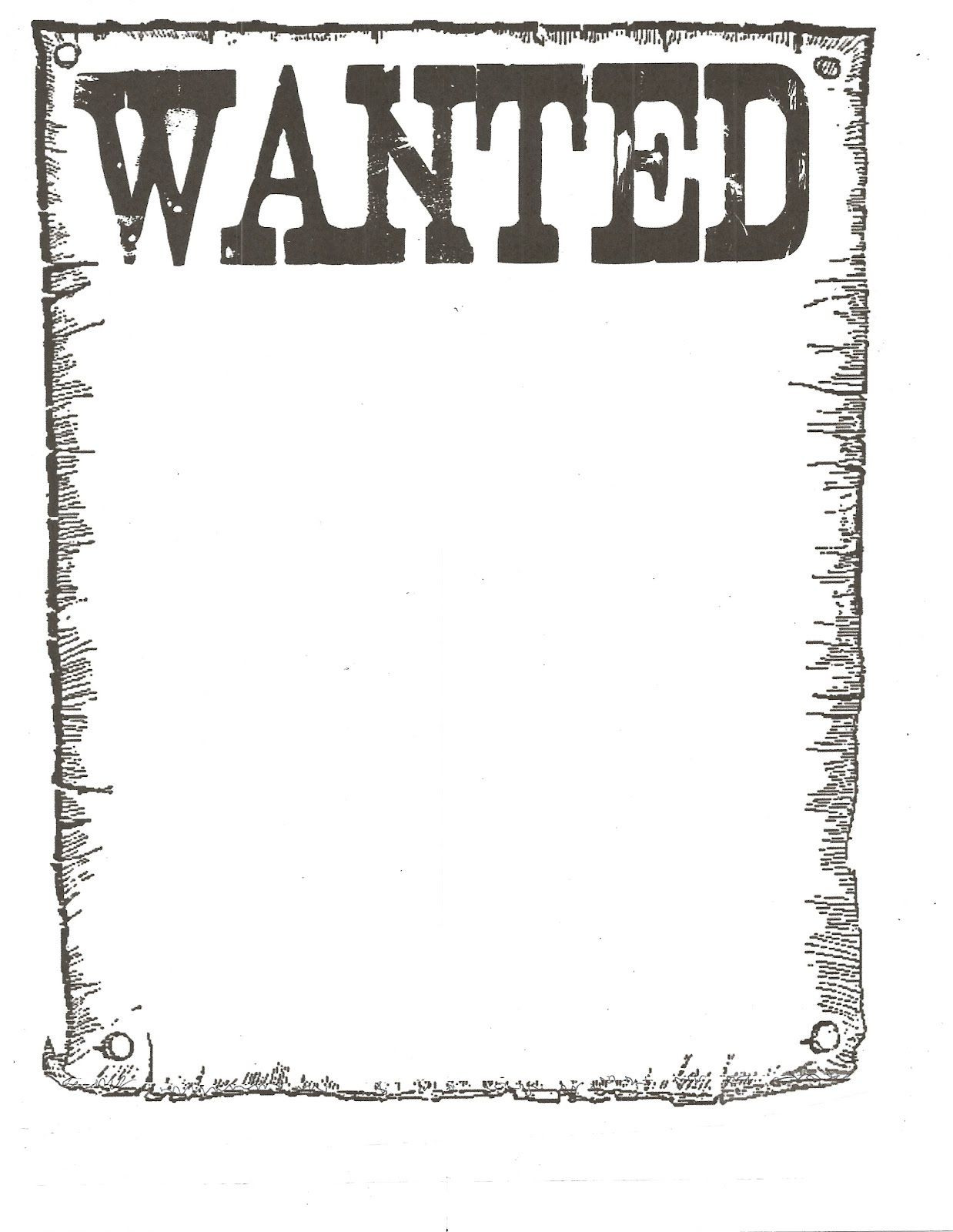 Wanted Poster  Western Theme Westerns And Gold Rush