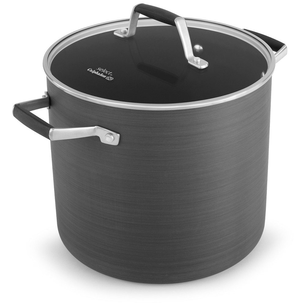 Select by calphalon quart hardanodized nonstick stock pot with