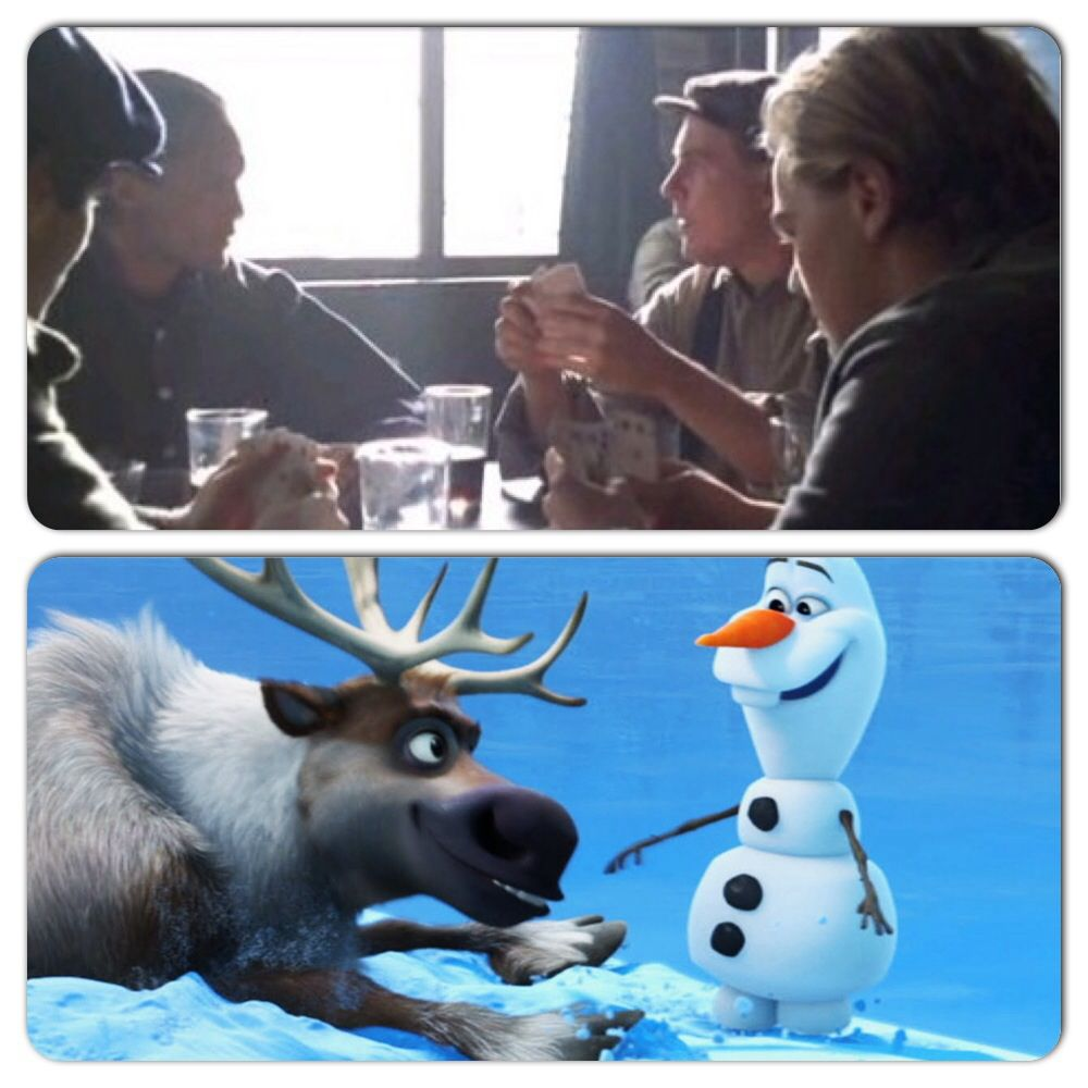 7be5e570071 The moment you realize Sven and Olaf were in titanic!