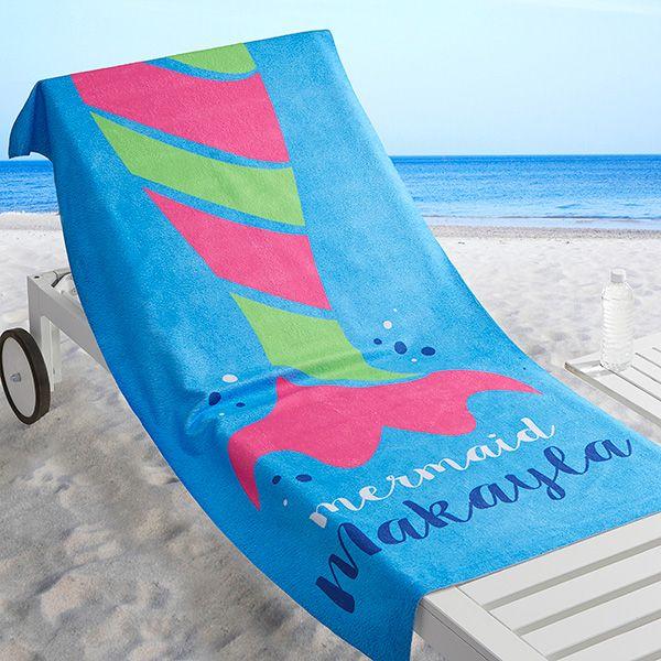 Mermaid Life Personalized 30x60 Beach Towel Beach Towel Custom