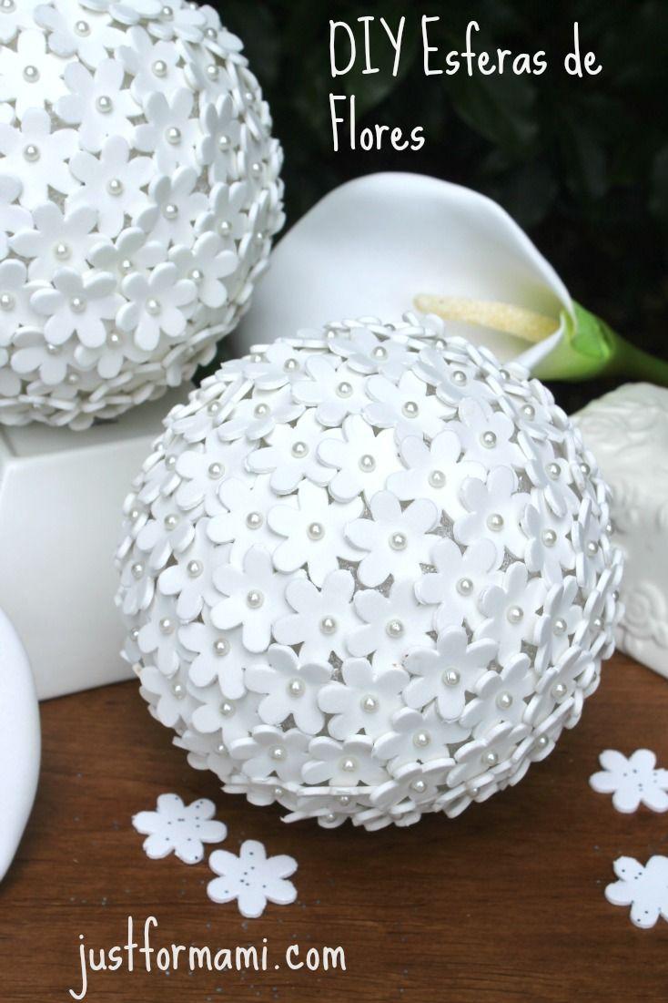 esferas de flores de foam en color blanco pueden ser usadas para decoracin en e
