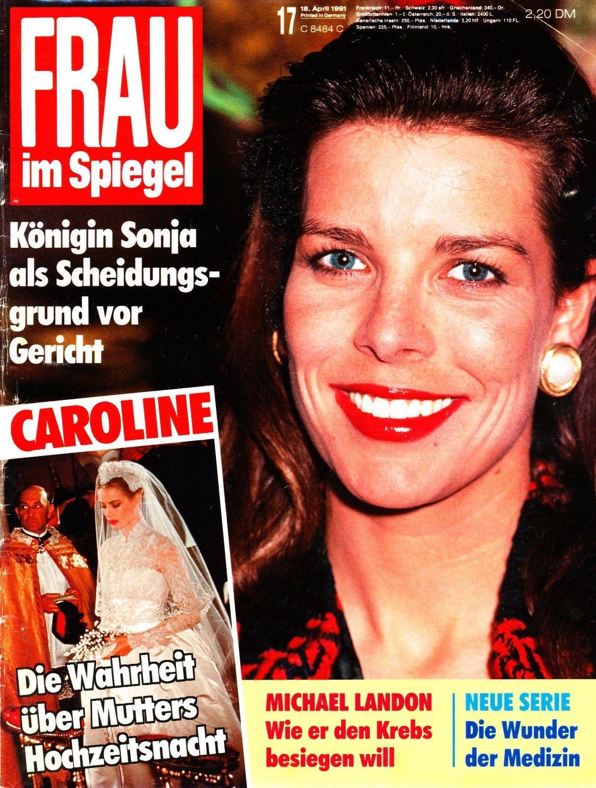Frau im Spiegel - Titelblatt vom 18. April 1991 - Prinzessin Caroline von Monaco