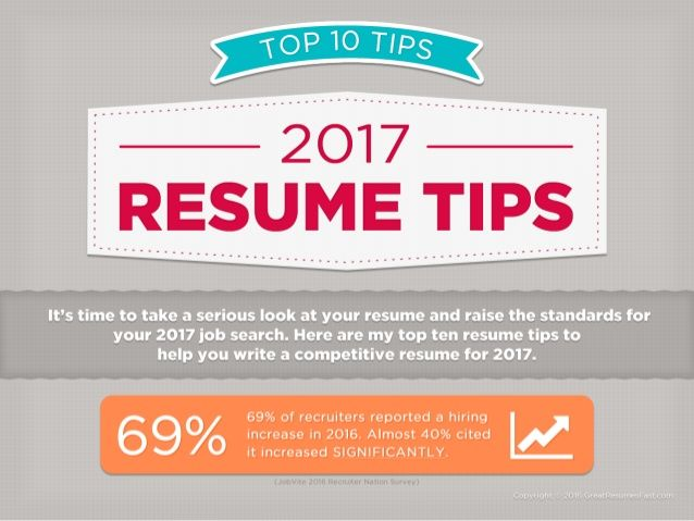 2017 Resume Tips - Top 10 Resume Tips for 2017 Resume Writing - resume writing