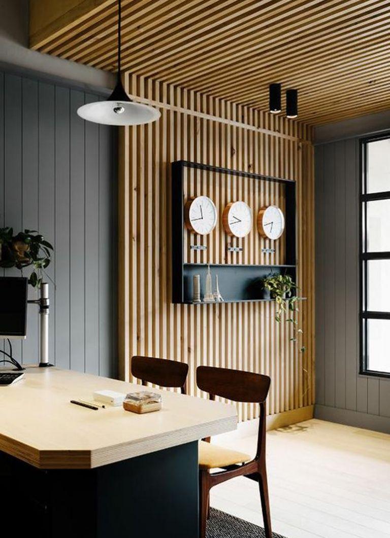 Wood Slat Trend Holzdecke Modern Verkleidung Wande Holzdecken