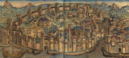 M. Wolgemut, view of Constantinople c. 1493