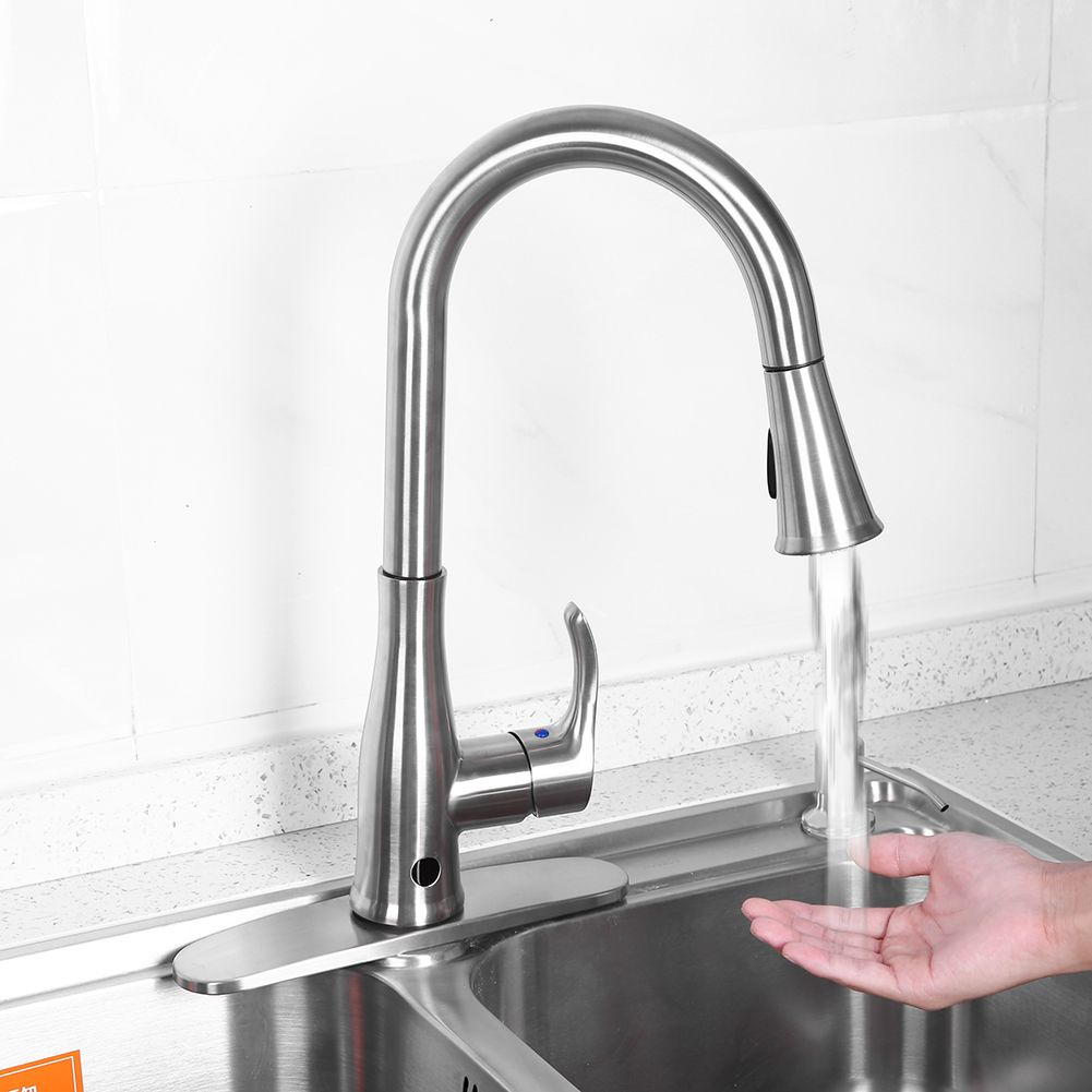 Lv Life 9 16 Single Handle Touch Kitchen Sink Faucet With Pull Down Sprayer With Holder Single Handle Faucet Sink Faucet With Holder Walmart Com Sink Faucets Kitchen Sink Faucets Single Handle Faucet
