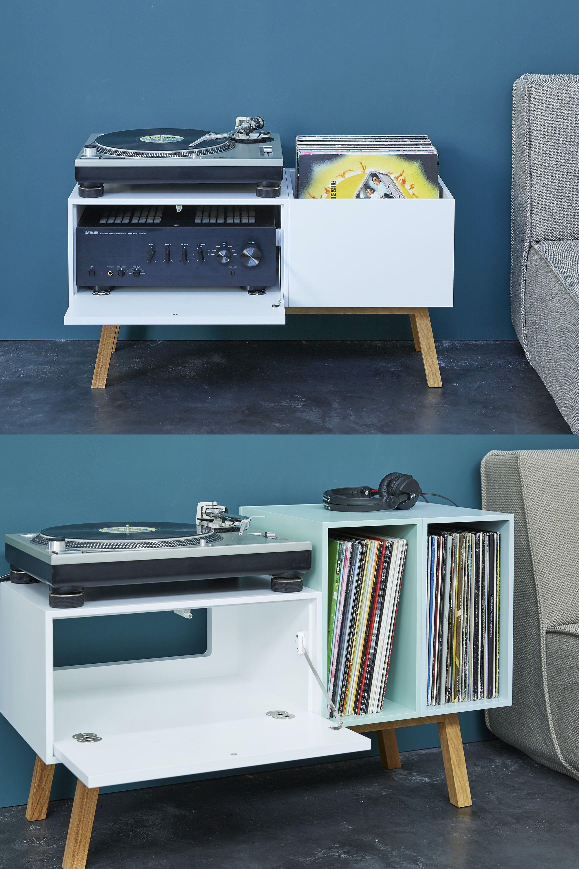 Meuble Pour Ranger Des Disques Vinyles Avec Bac A Disques Et Rangement Pour Ampli Meuble Vinyle Meuble Pour Platine Vinyle Rangement Vinyle