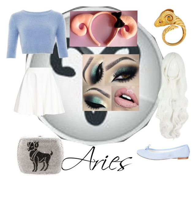 """Aries"" by suicidalflower on Polyvore featuring Alice + Olivia, Repetto, Judith Leiber, women's clothing, women's fashion, women, female, woman, misses and juniors"