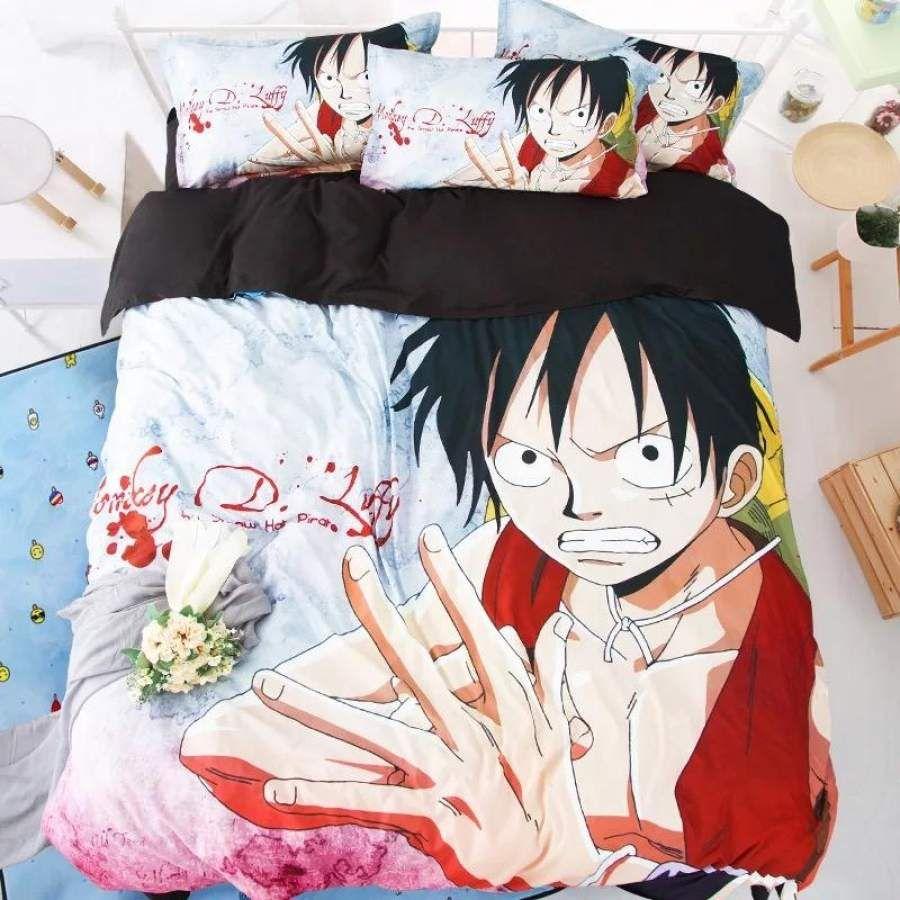 One Piece Monkey D. Luffy #18 Duvet Cover Quilt Cover Pillowcase Bedding Set
