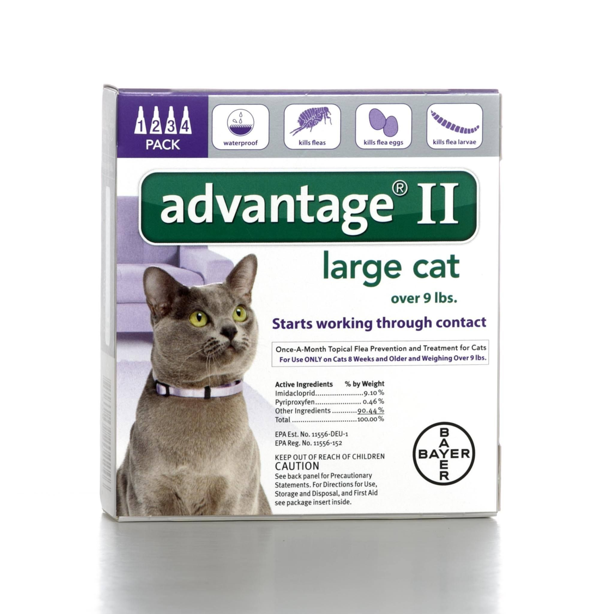 Bayer Advantage Ii Flea Prevention For Cats Over 9 Lbs