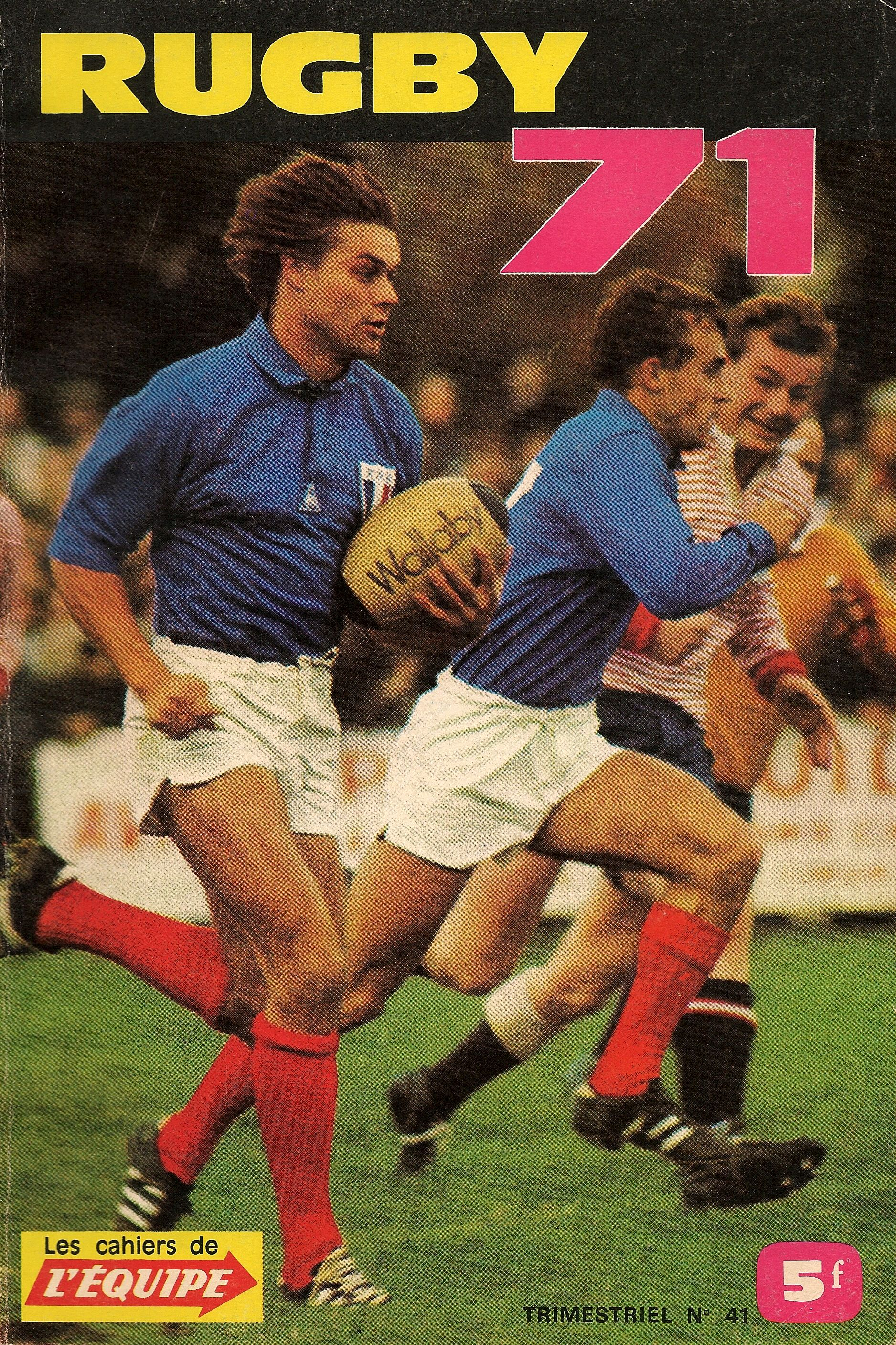 Les Cahiers De L Equipe Rugby 71 Rugby Design Rugby Art Rugby
