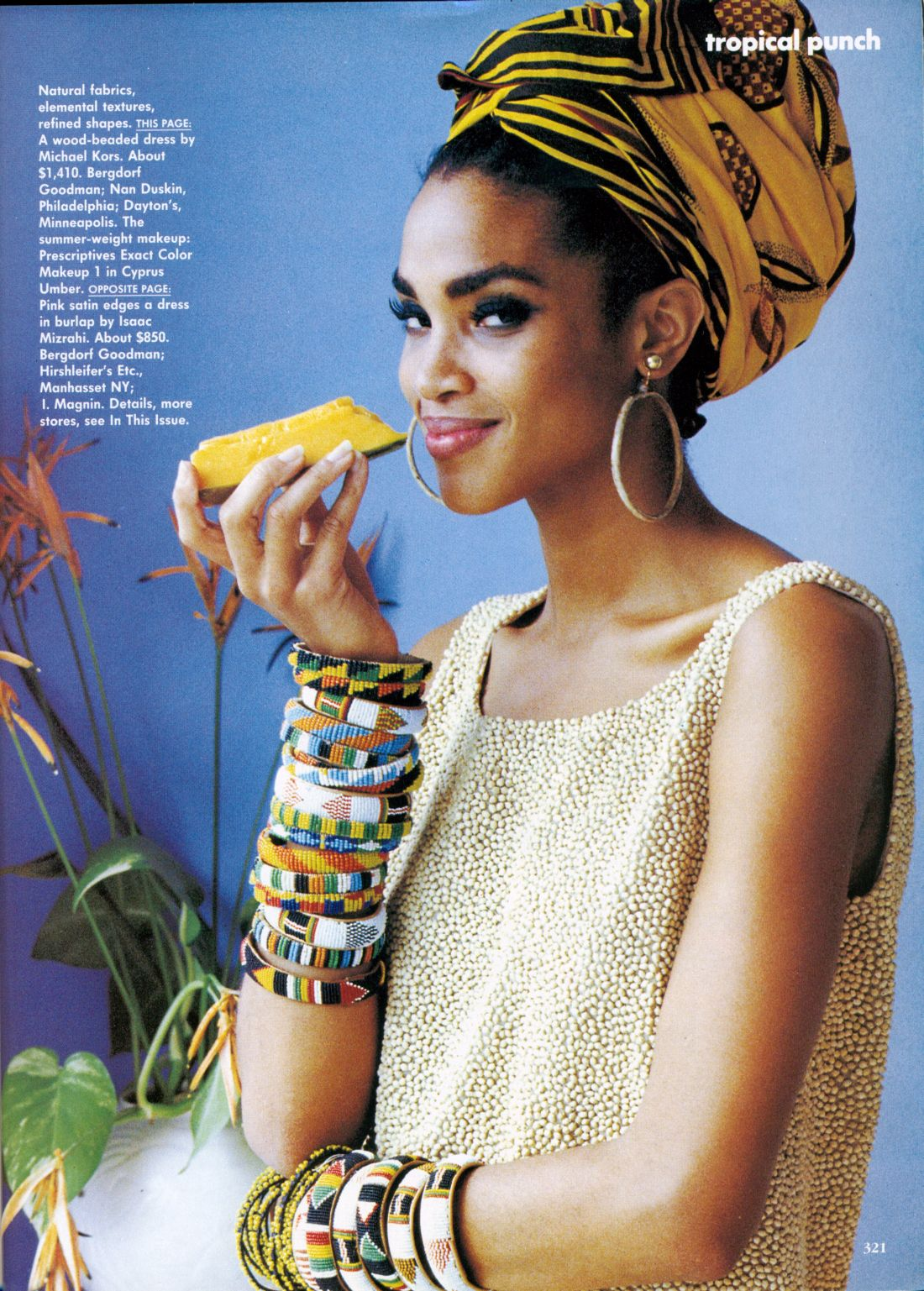 "US Vogue April 1991 ""Tropical Punch"" Model: Stephanie Roberts Photographer: Ellen von Unwerth"