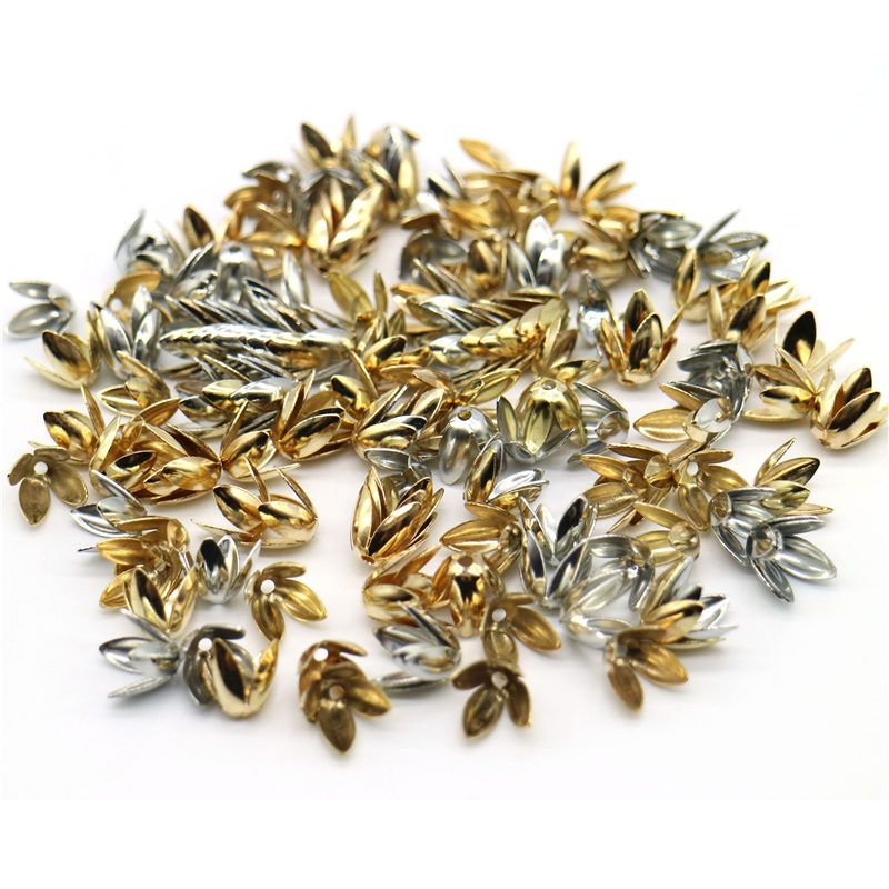 100//150pcs Antique Silver flat Round Spacer Beads Charm Crafts Jewelry Making