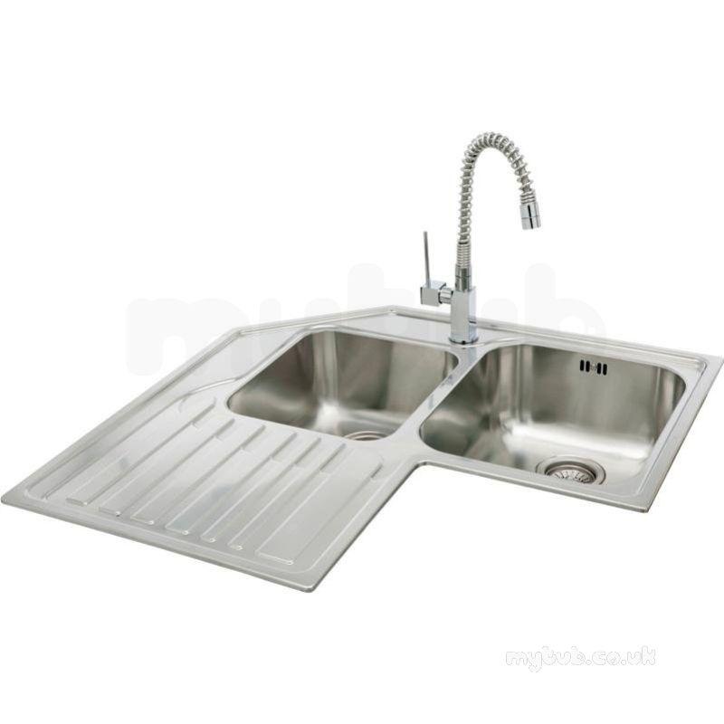 Lavella Corner Kitchen Sink With Left Hand Double Bowl And Drainer Carron Fregaderos De Cocina Diseño De Interiores De Cocina Cocina De Ensueño