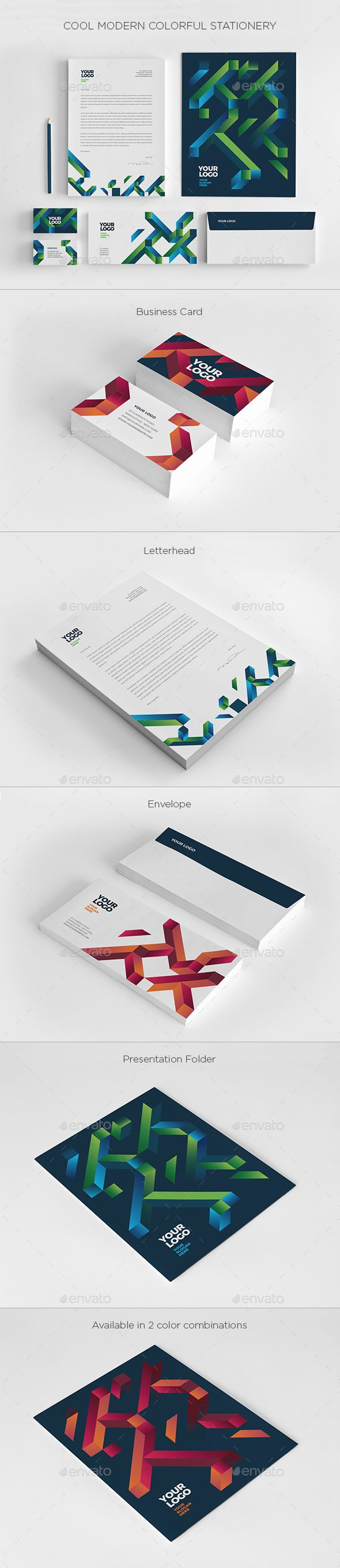Cool modern colorful stationery resume cv font logo and business cool modern colorful stationery reheart Image collections