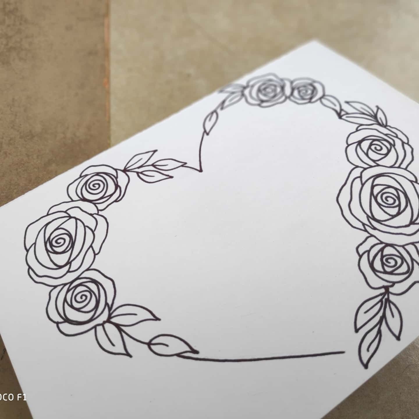 Easy Rose Drawing Floral Border Rose Drawing Simple Card Drawing Rose Drawing