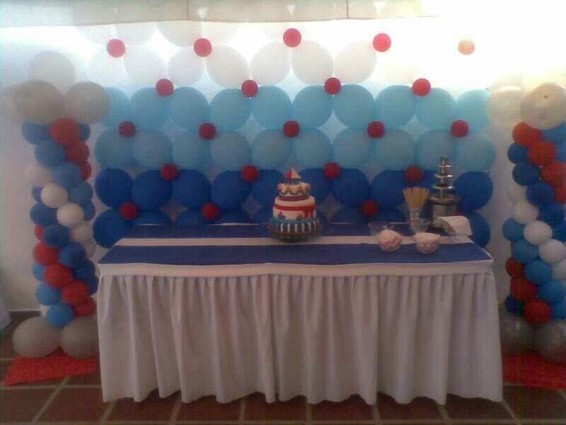 Decoracion marinero globos cotillones pi atas cajaderegalos pinterest birthdays - Fiesta marinera decoracion ...