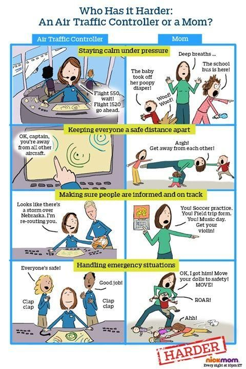 Who Has It Harder An Air Traffic Controller Or A Mom Motherhood Funny Aviation Humor Parenting Humor