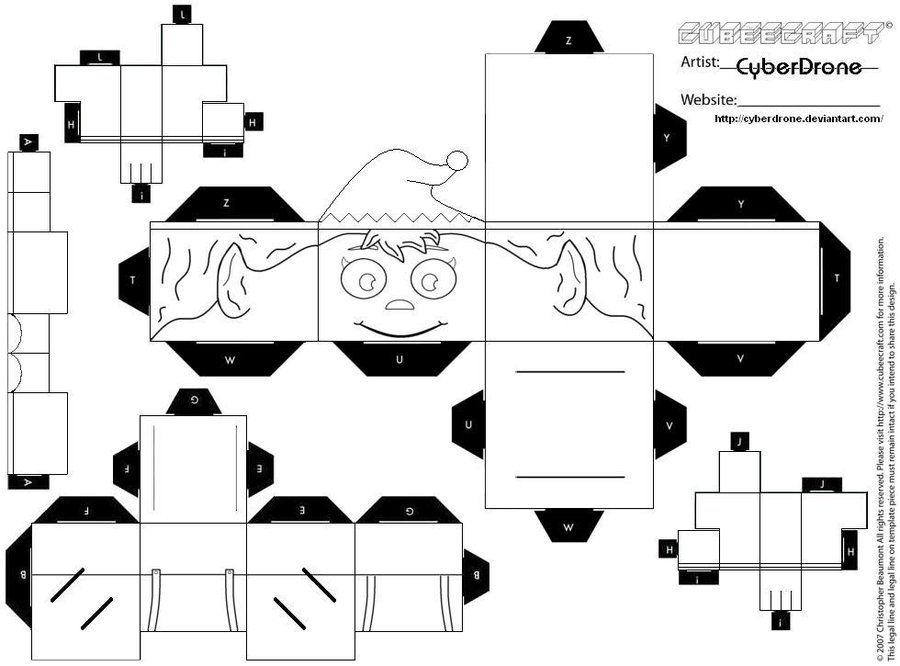 Cubee Elf Blank By Cyberdrone Deviantart On