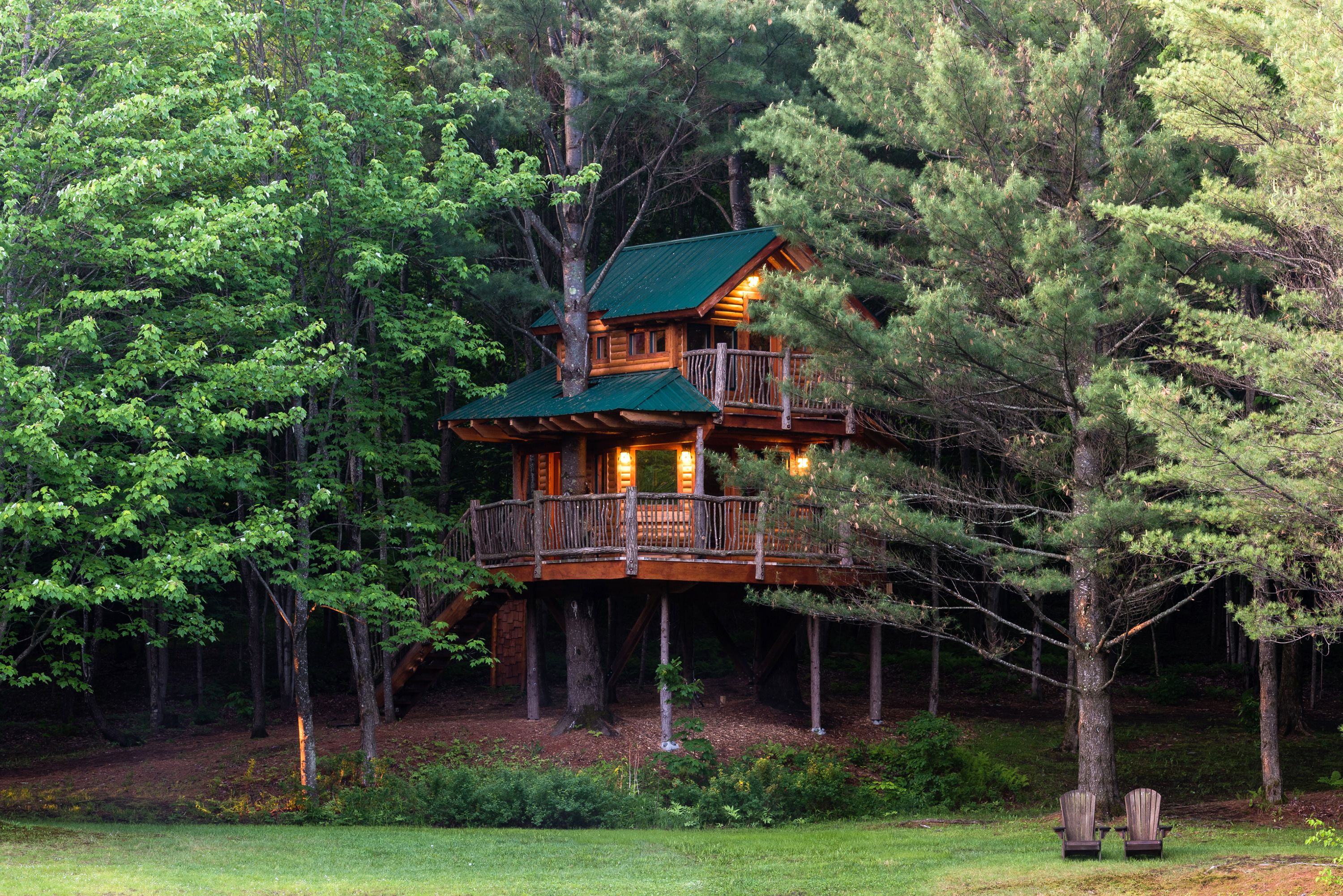 waterford treehouse and cabin newport vermont bed rental tree breakfast untitled new in