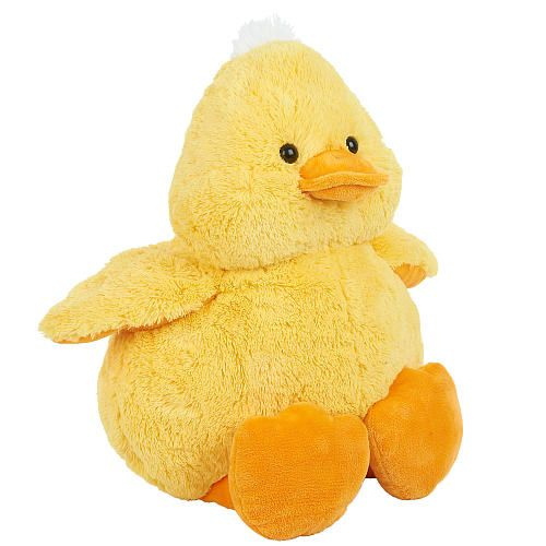 You and the Babies'R'Us Plush Jumbo Duckling will go together like cheese and 'quackers!' This sweet, fuzzy duckie is oh-so-soft -- especially the little tuft of white fur on the top of his head. He features a cute orange bill and floppy feet, while his round, plump body is so nice to snuggle with. <br><br> The Babies R Us Plush 16 inch Jumbo Baby Farm Duckling - Yellow features:<br><ul><li>Includes a stuffed animal</li><li>Designed as a yellow duckling with touches of orange and…