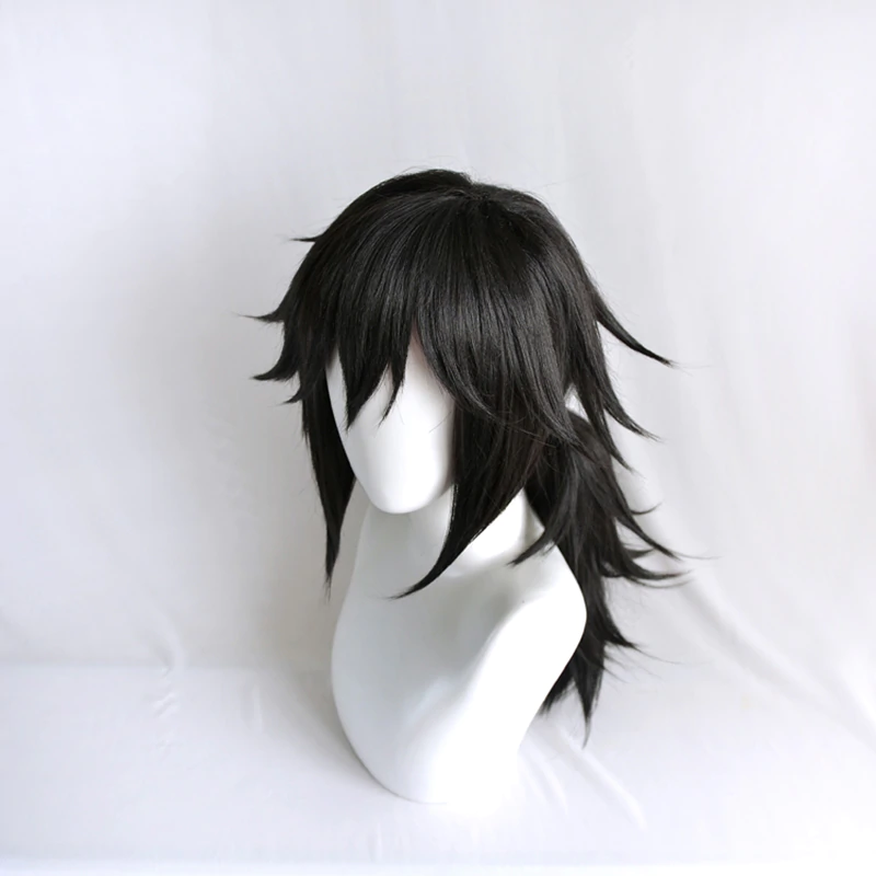 Demon Slayer Kimetsu No Yaiba Tomioka Giyuu Black Ponytail Wig Cosplay Costume Men Women Heat Resistant Synthetic Hair Wigs In Ponytail Wig Wigs Wig Hairstyles