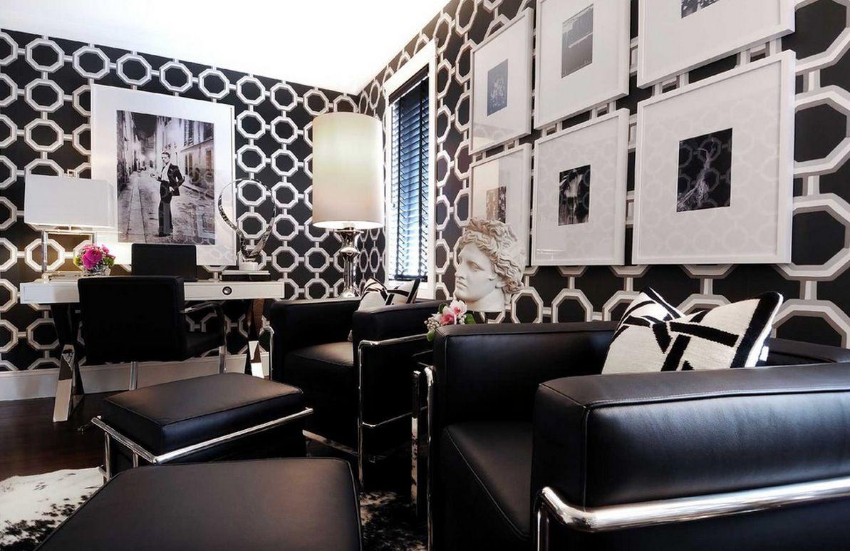 Art deco interior design black and white design minimalist home