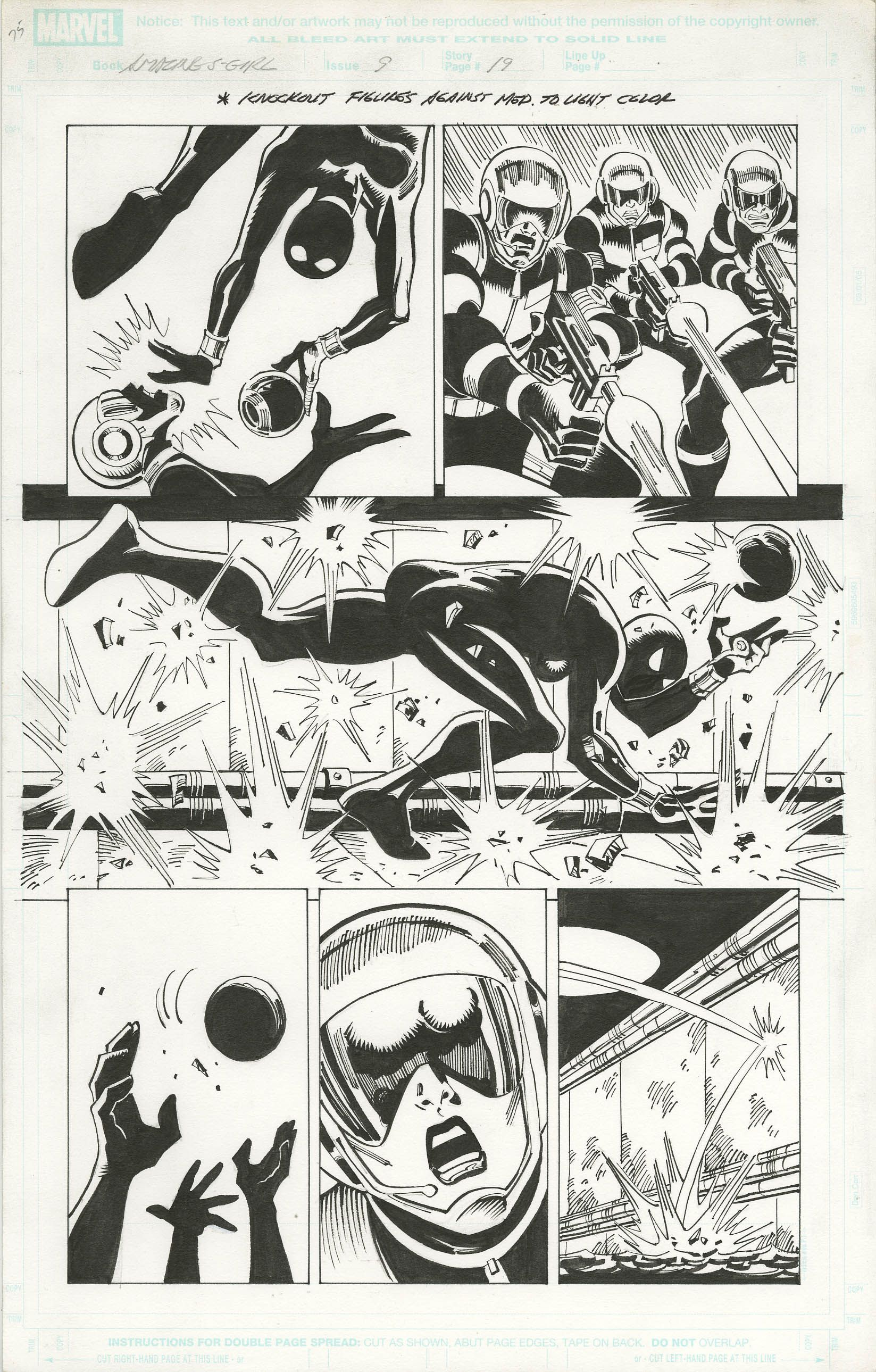 AMAZING SPIDER-GIRL #9 PAGE 19 - RON FRENZ - W.B.