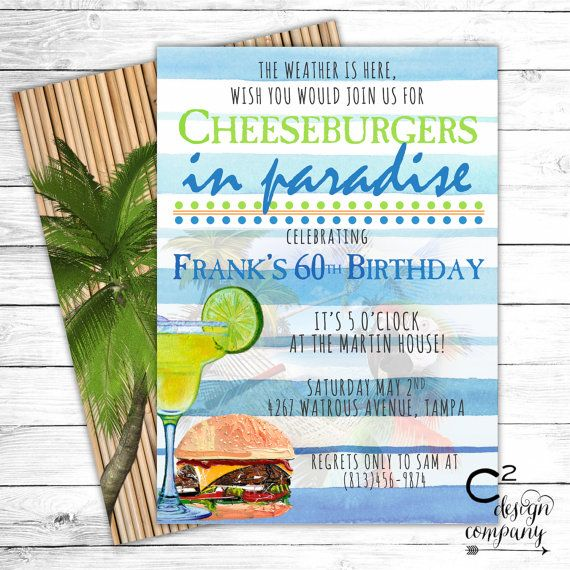 Jimmy Buffett Margaritaville Party Invitation Jimmy buffett - invitation wording for mystery party