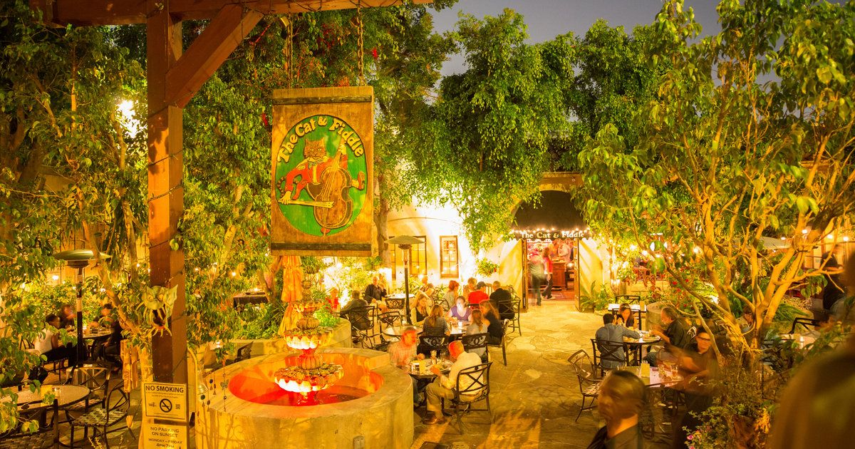 The Cat and Fiddle Event venue spaces, Patio lighting, Patio