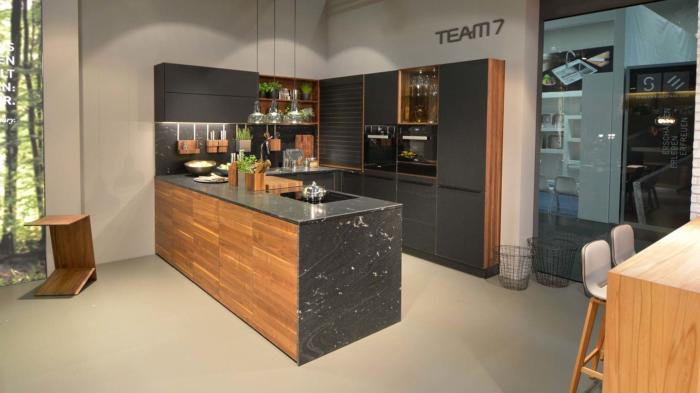 k che black line aus massivem holz living kitchen 2017 kitchen pinterest holz k che und. Black Bedroom Furniture Sets. Home Design Ideas