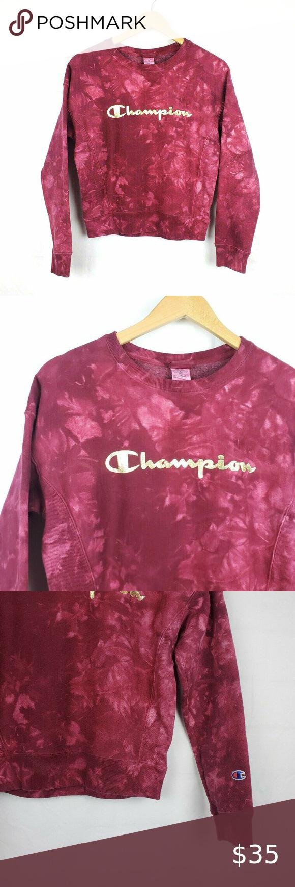 Champion Reverse Weave Tie Dye Crop Sweatshirt Xs Crop Sweatshirt Grey Champion Sweatshirt Blue Cable Knit Sweater [ 1740 x 580 Pixel ]
