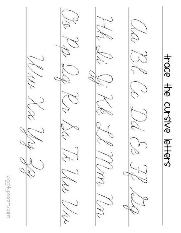 Cursive Writing Worksheets To Print  Cursive Cursive Writing
