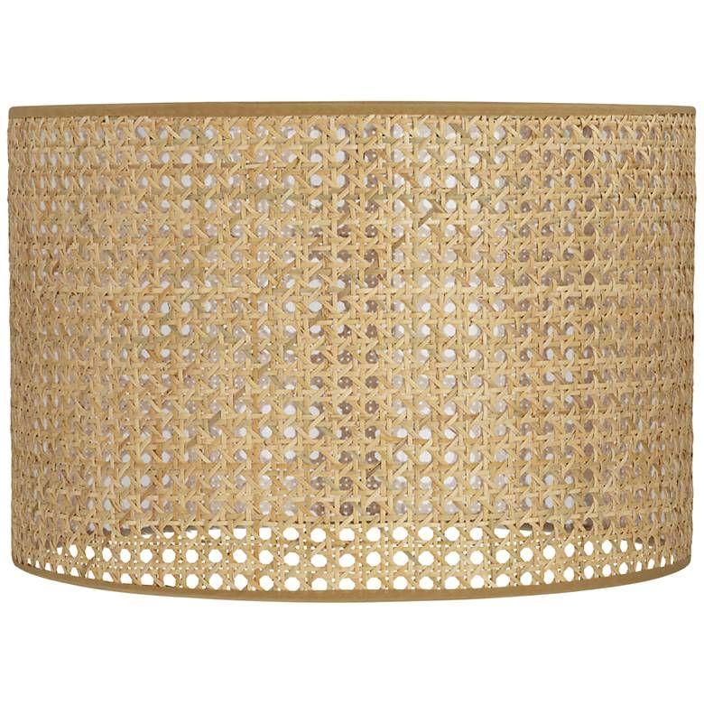 Lattice Rattan Drum Lamp Shade 15x15x10 Spider 60k05 Lamps Plus Drum Lampshade Lamp Shade Rattan Lamp