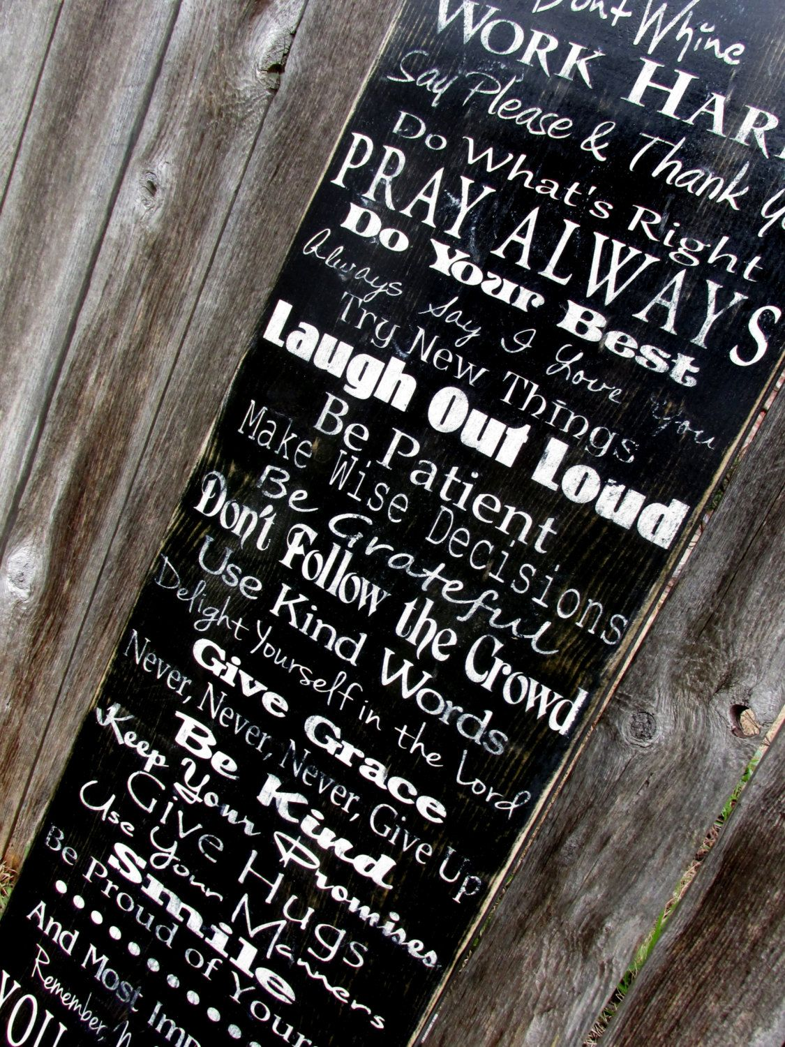 Perfect Christmas gift Family Rules Sign by HeritageDesignsTH, $65.00