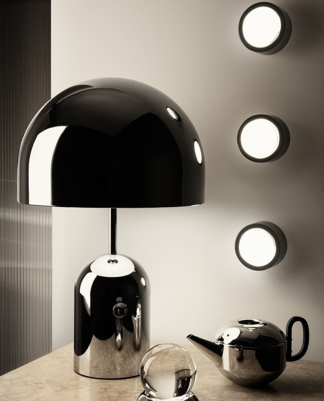 Tom Dixon On Instagram Spot Wall Lights Highly Functional And Unexpectedly Decorative With Our Bell Table Light An Exercise In 2020 Light Table Wall Lights Lights