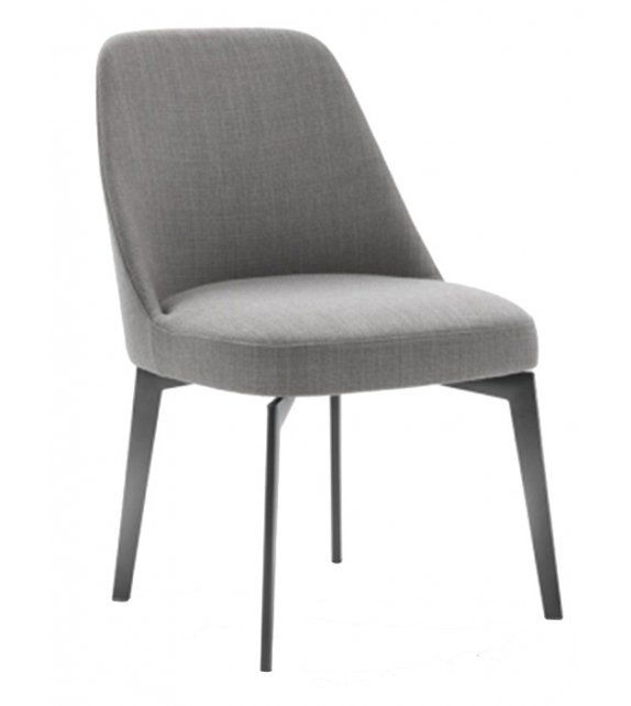 Small Accent Chair With Metal Legs: Leda Flexform Small Armchair With Metal Legs In 2019